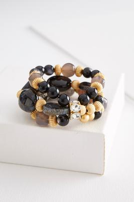 layered semi-precious bead bracelet