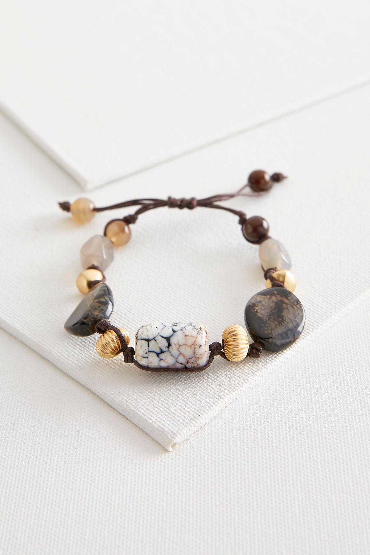 Semi- Precious Bead Cord Bracelet