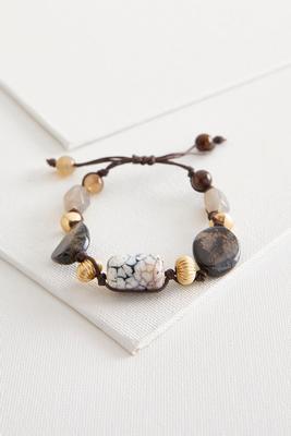 semi-precious bead cord necklace