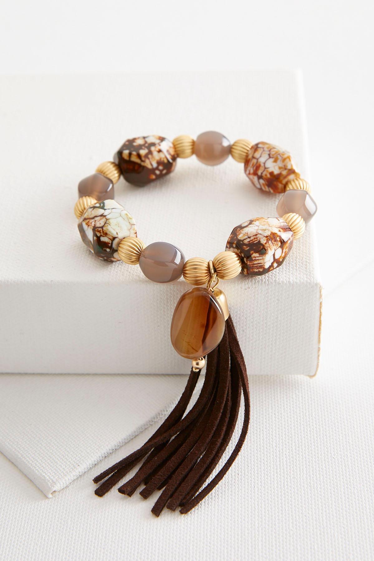 Semi- Precious Tassel Bracelet