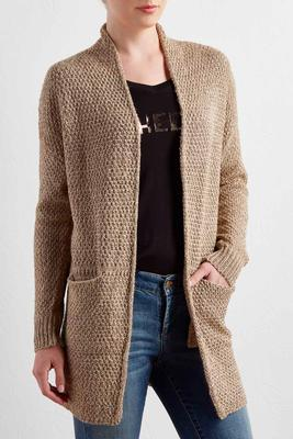 lurex knit boyfriend cardigan