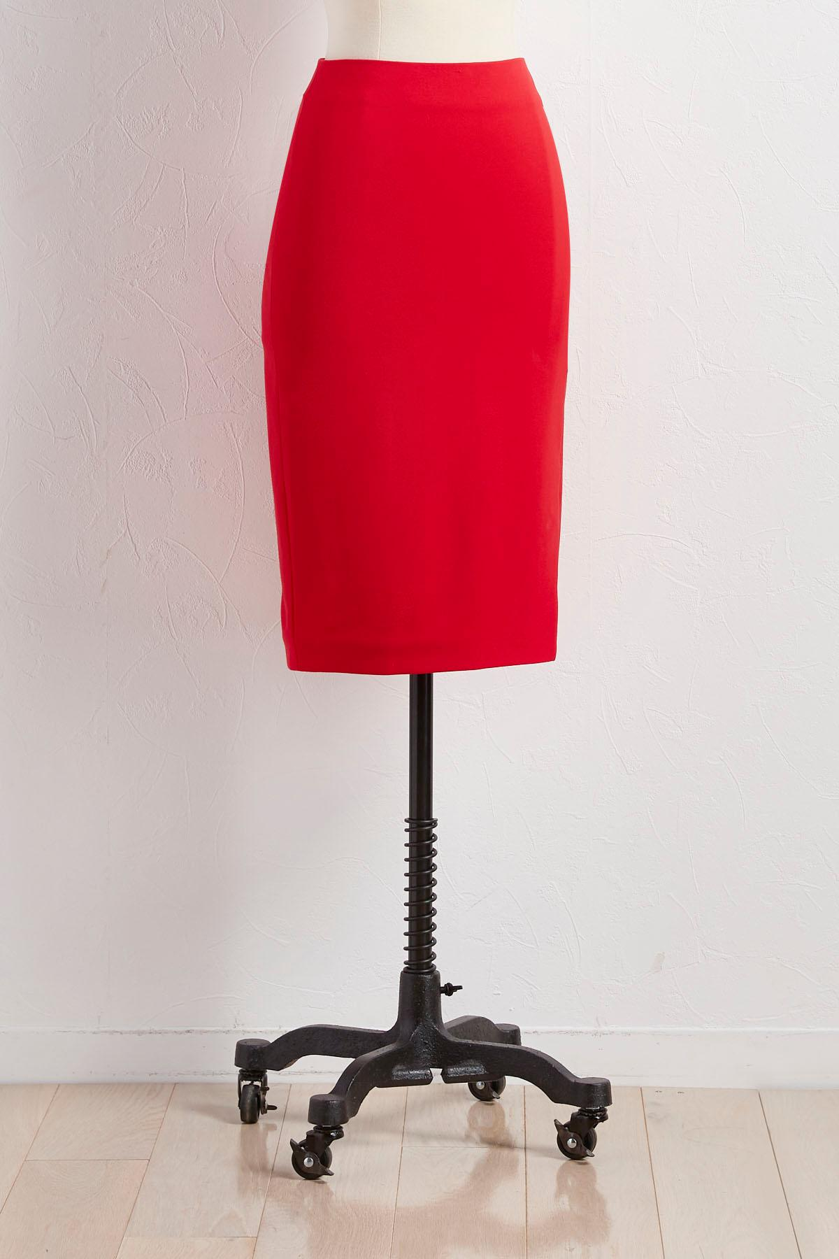 Slit Ponte Pencil Skirt