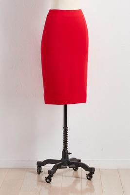 slit ponte pencil skirt