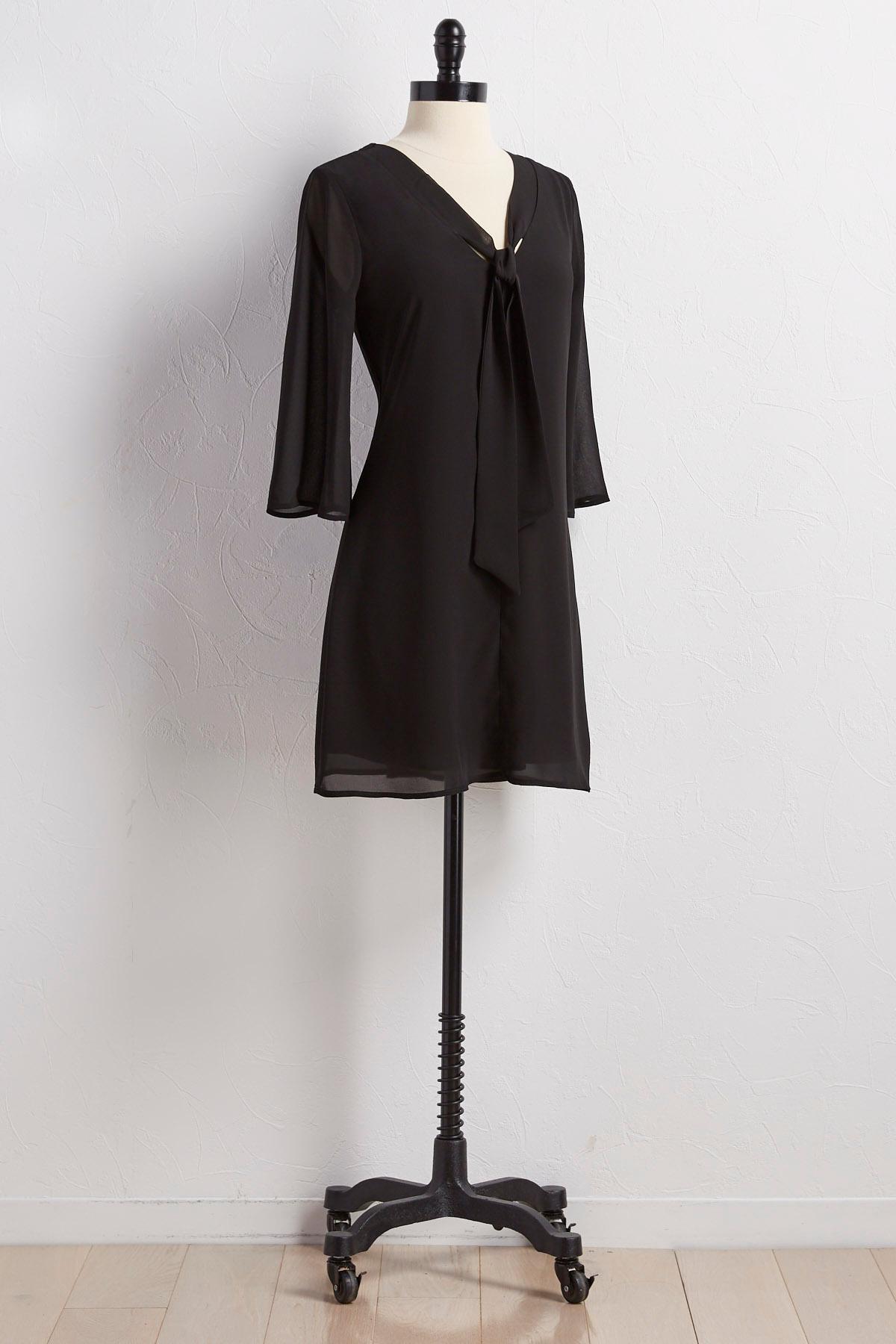 Tie Neck Shift Dress
