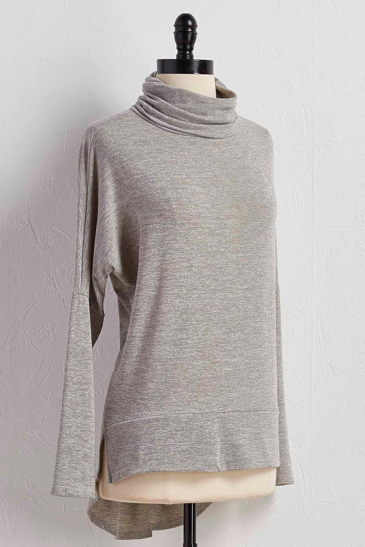 Space Dyed Turtleneck Tunic