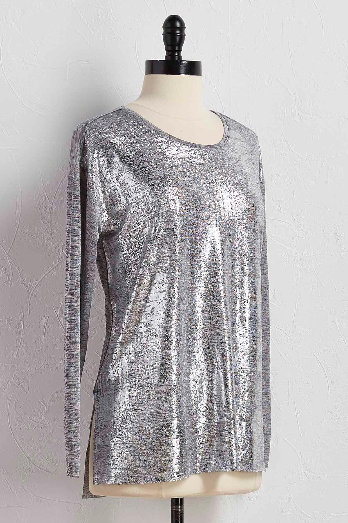 Metallic Front Tunic