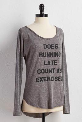 does running late count graphic tee