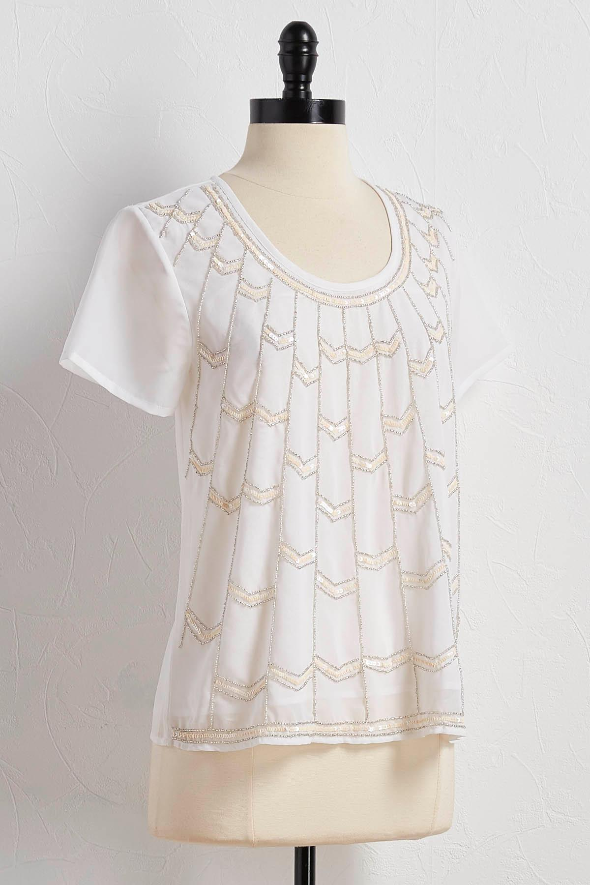 Beaded Chevron Top