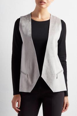 mixed media vest