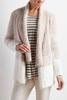 Striped Boucle Eyelash Knit Cardigan