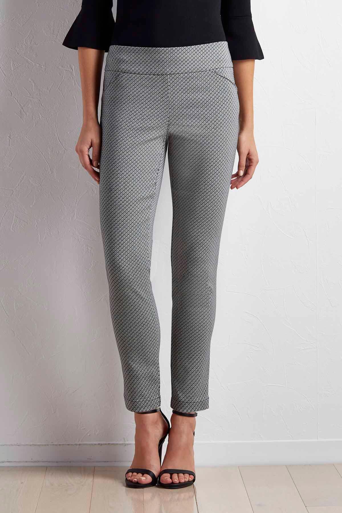 Honeycomb Slim Leg Pants