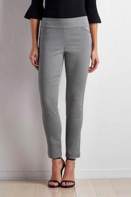 honeycomb slim leg pants