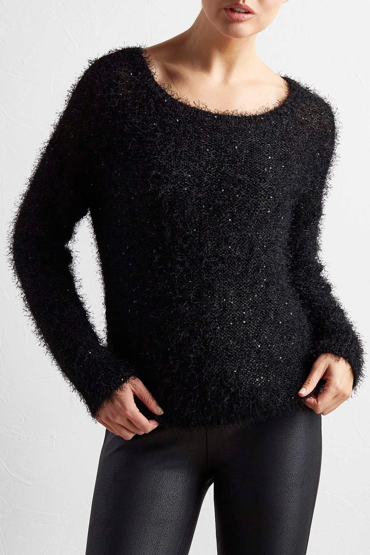 Sequin Eyelash Sweater