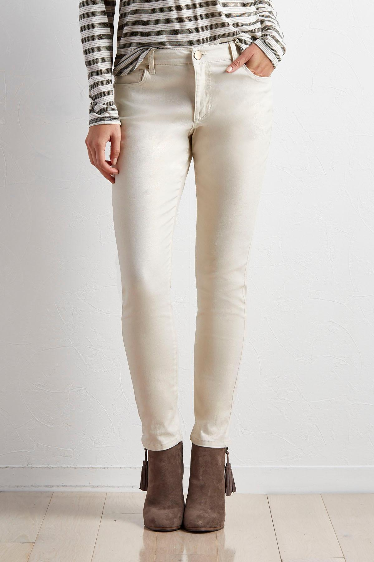 Metallic Skinny Pants