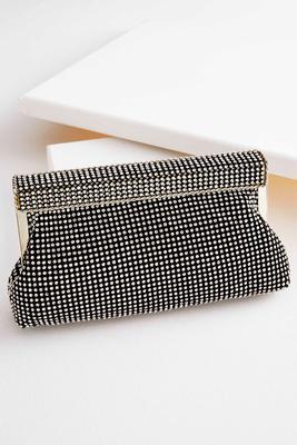 rhinestone mesh clutch