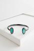 Pave Glitter Stone Cuff Bracelet