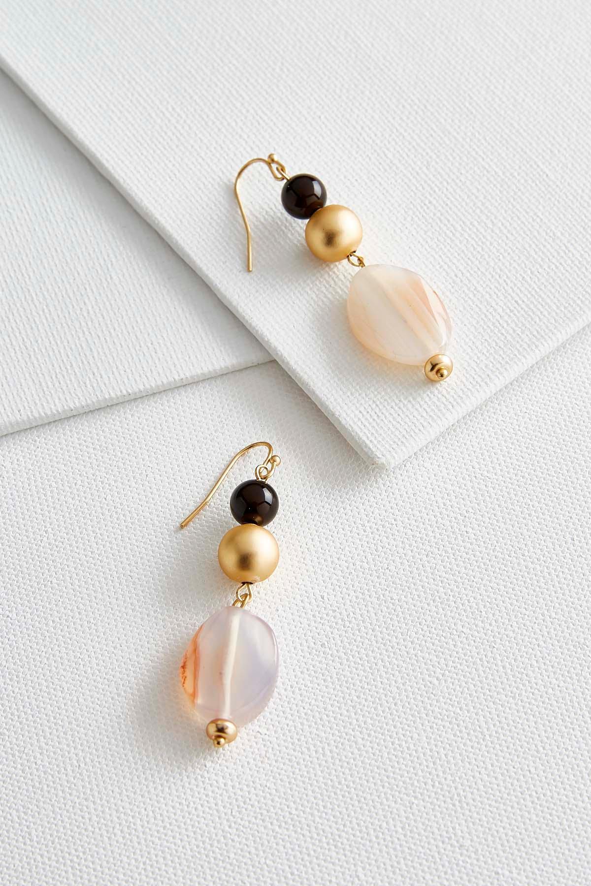 Semi- Precious Stone Dangle Earrings