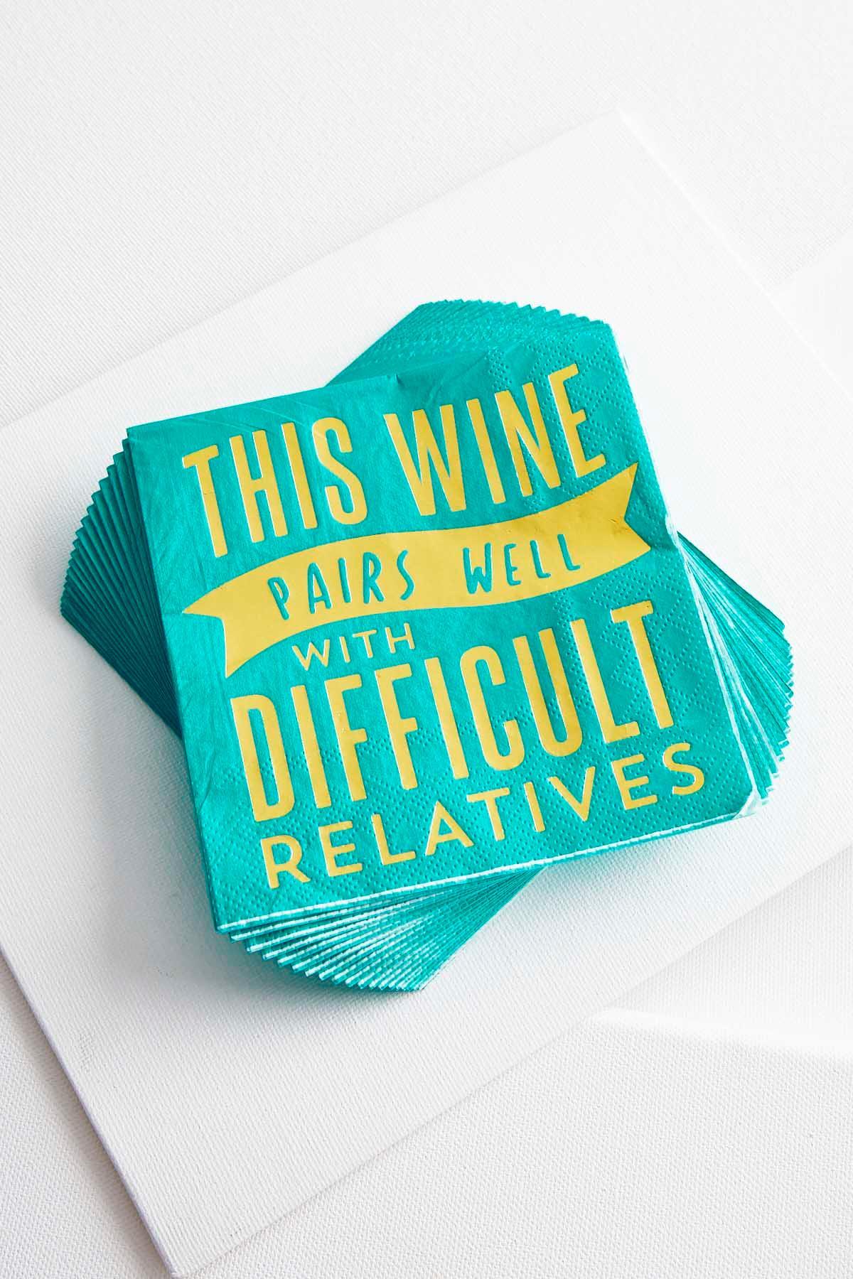 Wine Pairs Novelty Napkins
