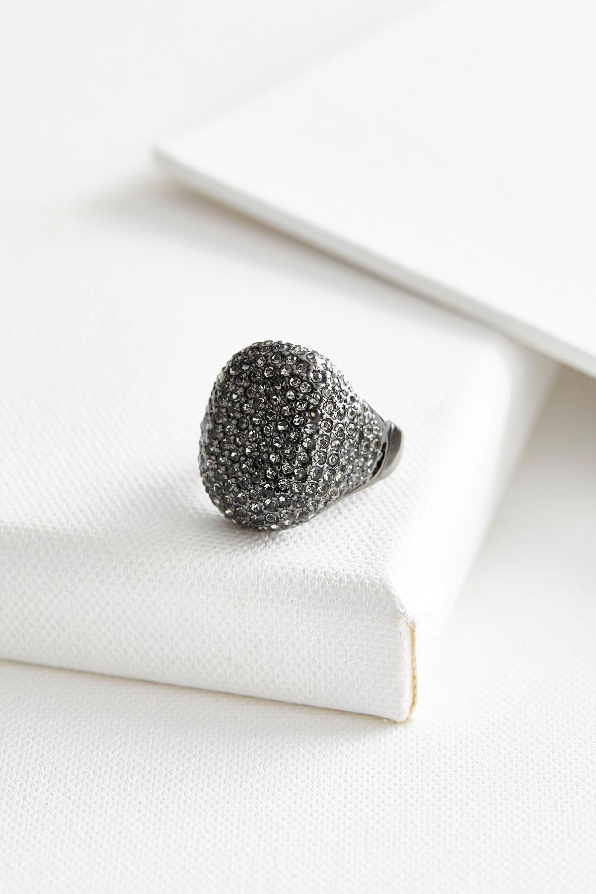 Oval Pave Ring
