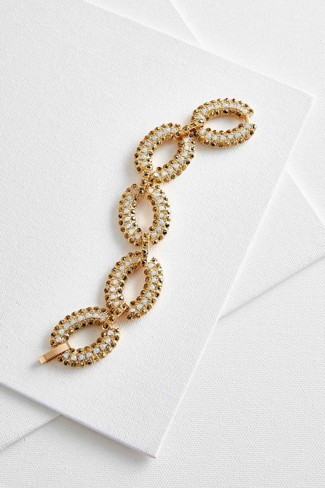 Pave Oval Link Bracelet