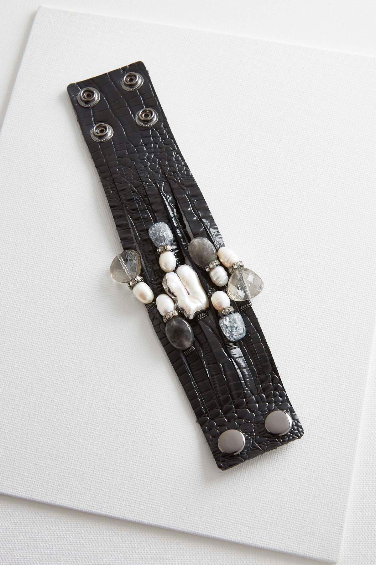 Fresh Water Pearl Snakeskin Wrap Bracelet