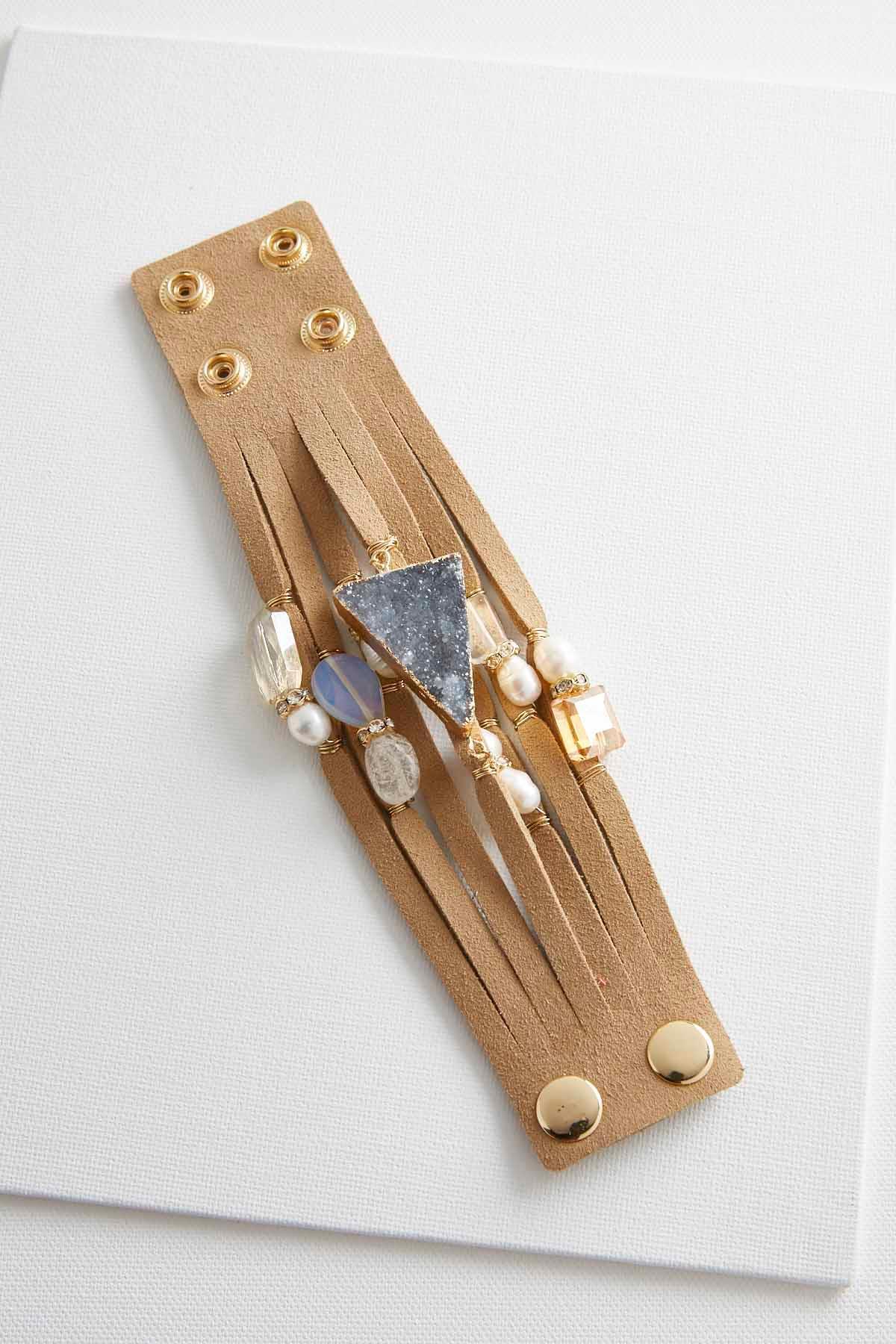Beaded Semi- Precious Stone Wrap Bracelet