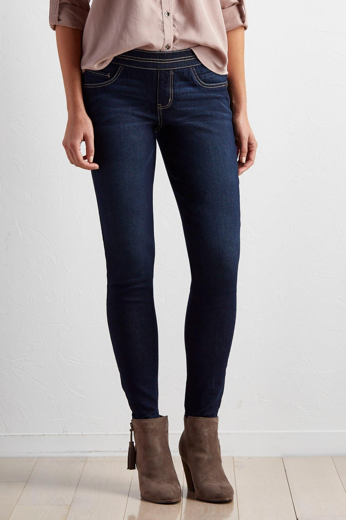 Pull- On Skinny Jeans