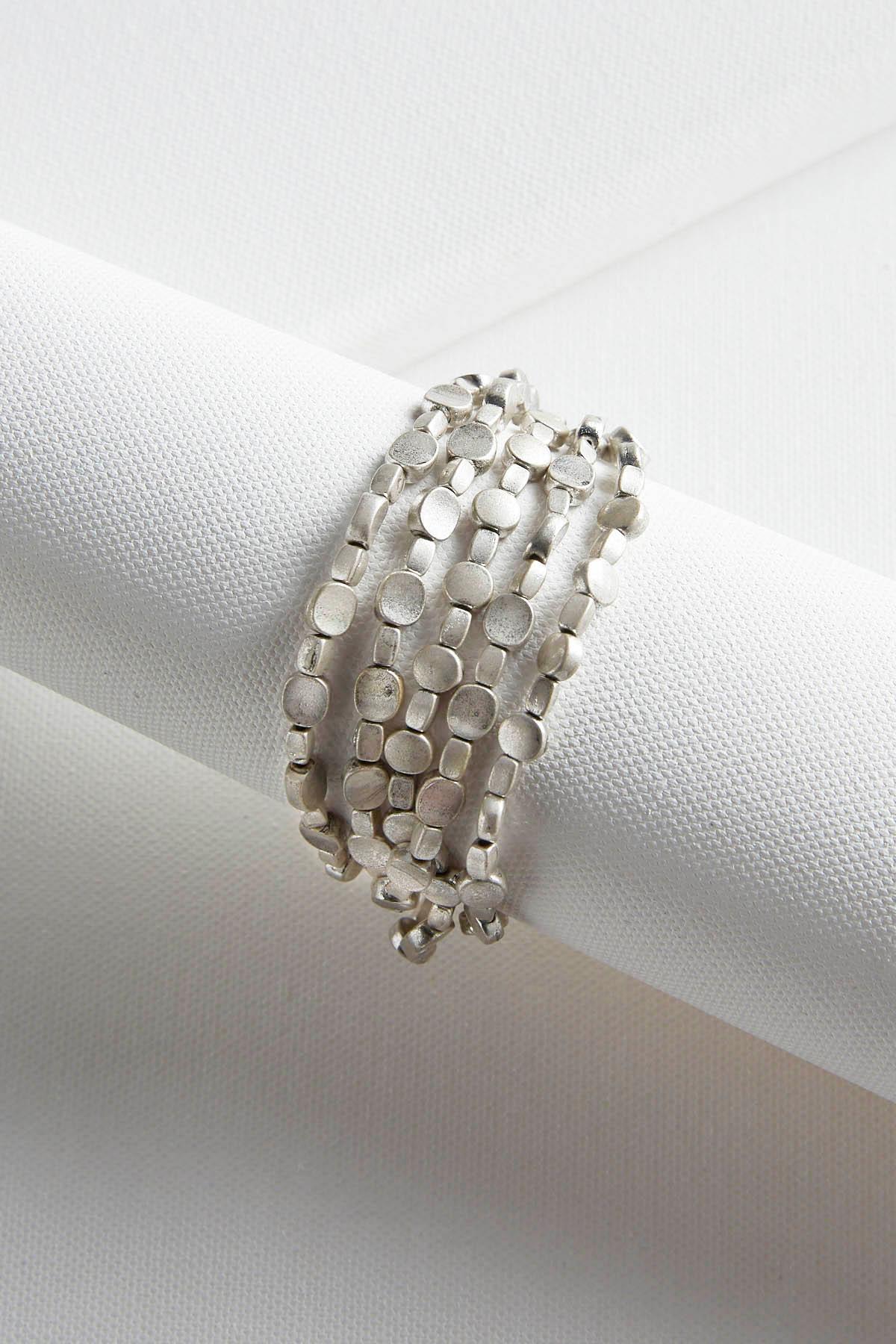Metal Bead Toggle Bracelet