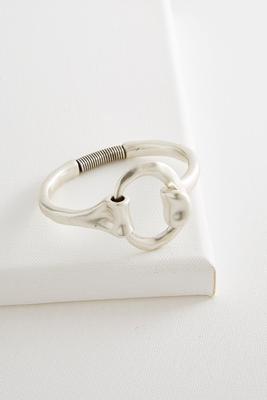 hammered oval cuff bracelet