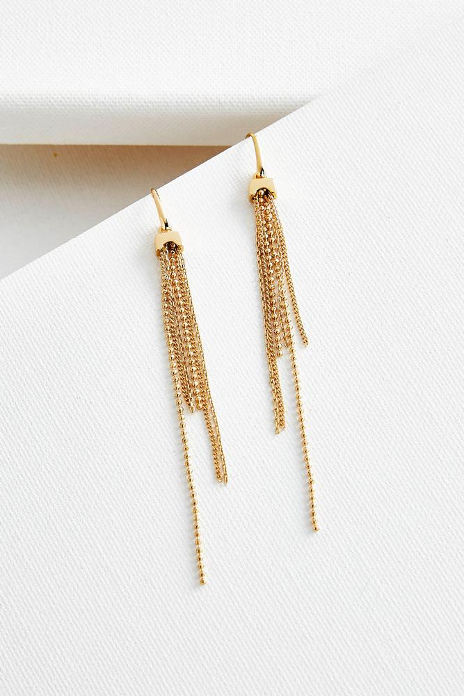 Mixed Chain Tassel Earrings