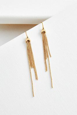 mixed chain tassel earrings