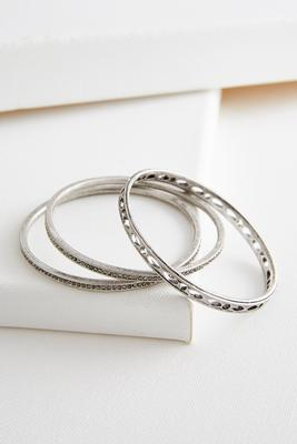 pave cutout bangle set