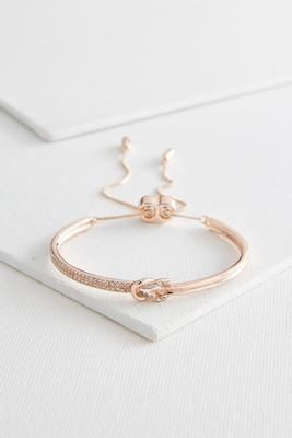 knotted pave cuff bracelet