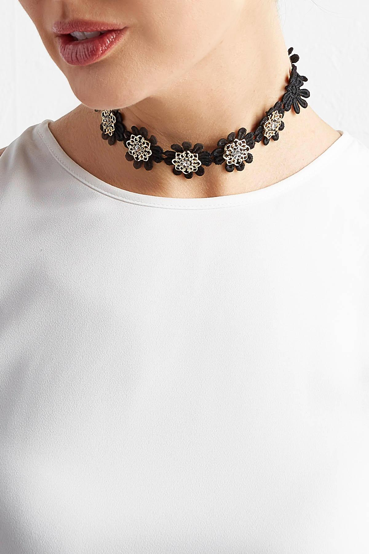 Floral Applique Choker