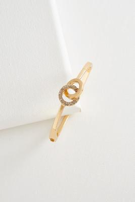 pave link hinge bangle