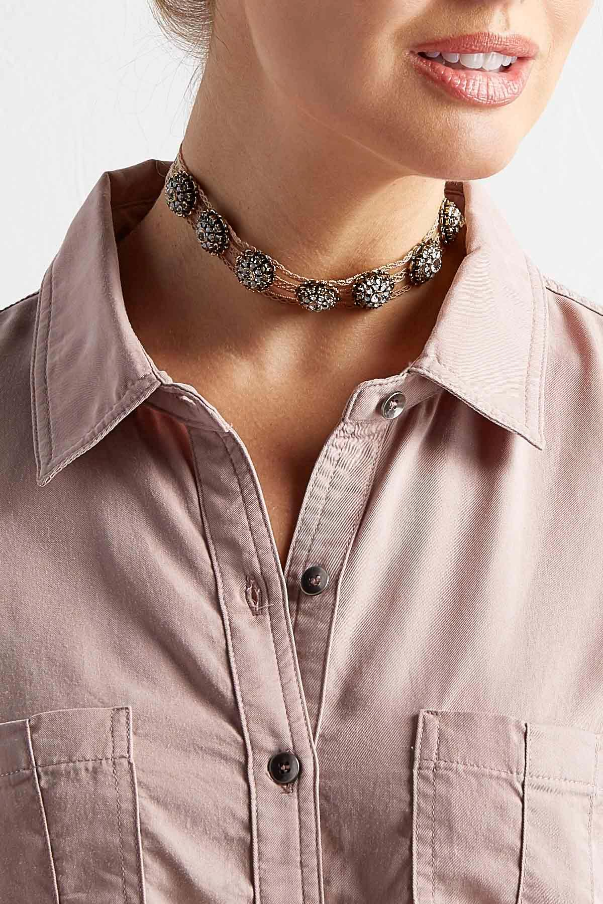 Embellished Lace Choker