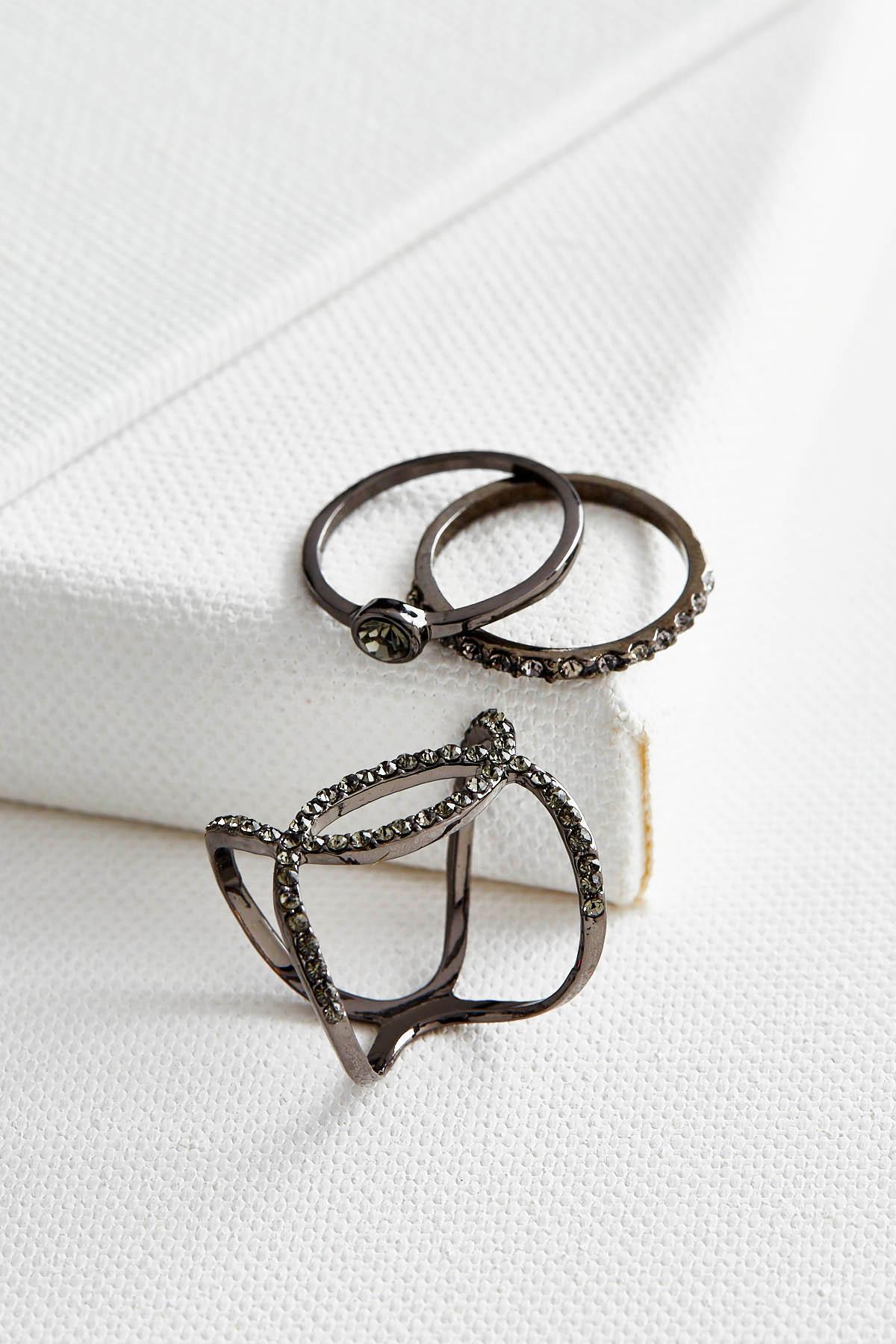 Hematite Metal Ring Set