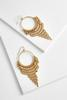 Chain Fringe Hoop Earrings