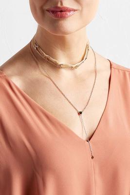 layered arrowhead y-neck choker