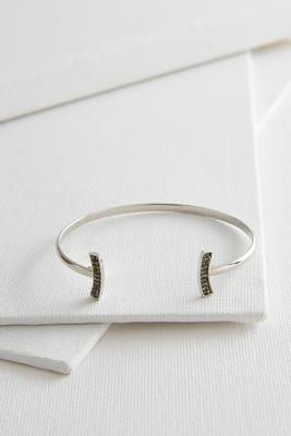 pave bar bordered cuff bracelet