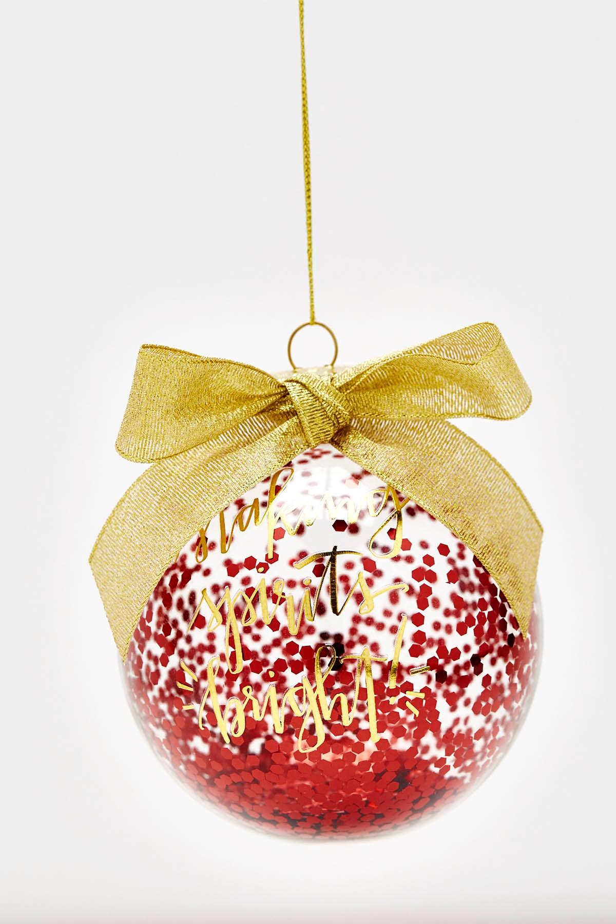 Spirits Bright Christmas Ornament