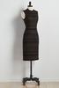 Metallic Striped Ribbed Sheath Dress
