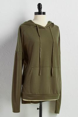 high-low lounge hoodie