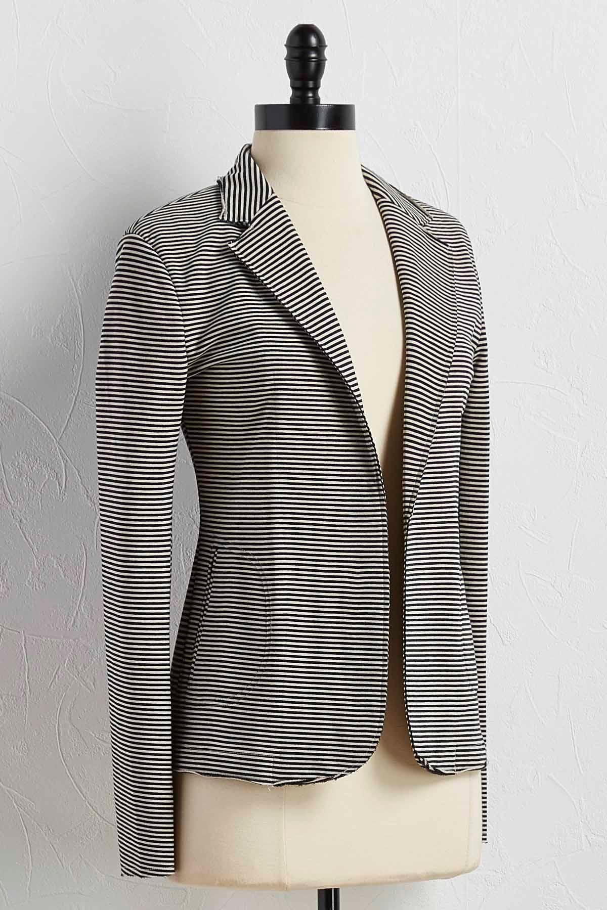 Striped Knit Blazer