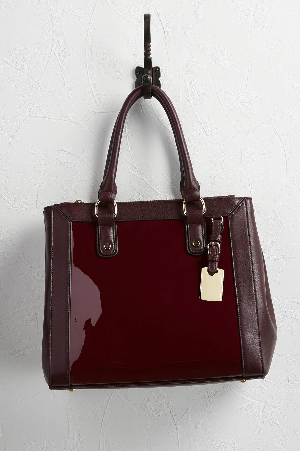Mixed Media Structured Satchel