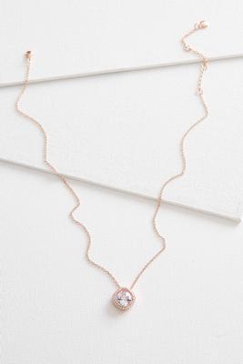 cz cushion cut pendant necklace