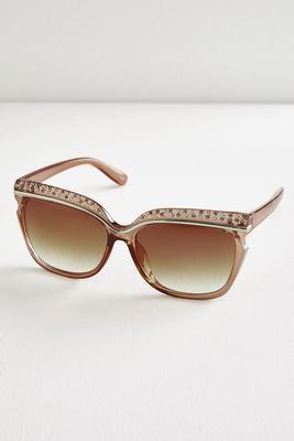 rhinestone brow sunglasses