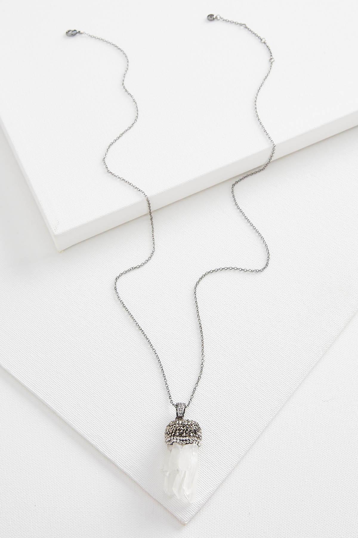 Semi- Precious Icicle Pendant Necklace