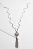 Tasseled Filigree Pendant Necklace
