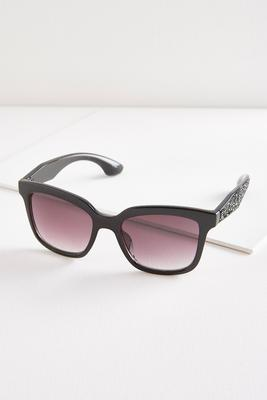 chipped stone arm cateye sunglasses